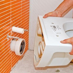INSSTALATION WC suspendu Bruxelles Belgique