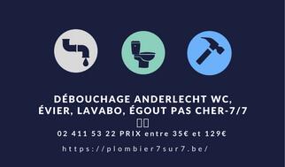 débouchage Anderlecht pas cher | Société TEL 0471.53.53.53